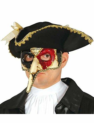 Venezianische Maske mit langer Nase mehrfarbig Erwachsene Halbmaske Fasching Party (Silber Venezianische Lange Nase Maske)