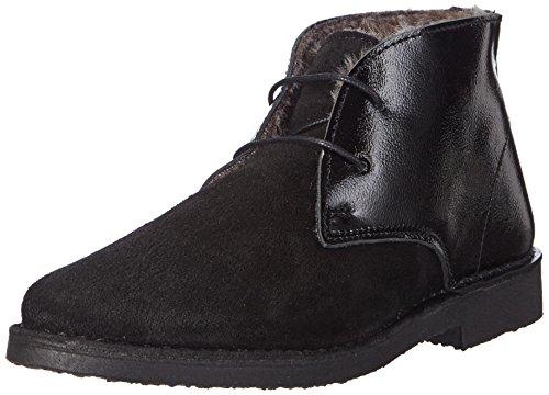 SELECTED FEMME Sflulu New Warm Patent Boot F, Stivaletti imbottiti Desert con imbottitura calda donna, Nero (Nero (nero)), 36