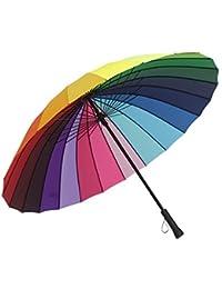 ZfgG Paraguas a Prueba de Viento Grande Reforzado, Paraguas al Aire Libre Doble de la
