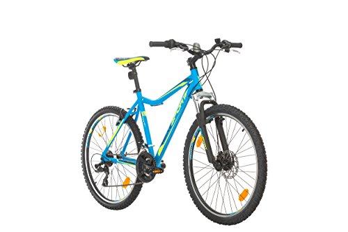 BIKE SPORT LIVE ACTIVE Bikesport Sporty 26 Zoll Fahrrad Mountainbike Herren-Fahrrad Jungen-Fahrrad Shimano 21 Gang (Blau matt)