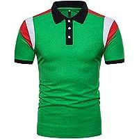 Beikoard_ Camisetas de hombre Verano Slim fit - Cosiendo Manga Corta -PJ01(S-2XL)❤ Limitado Promoción_Tops Camisetas Ropa Hombre Deportivas Sudaderas Chándales 2018 Ofertas