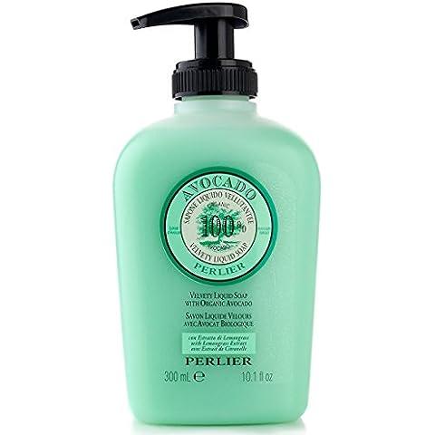 Perlier 100% Organic Avocado Velvety Liquid Soap 10.1 Fl Oz
