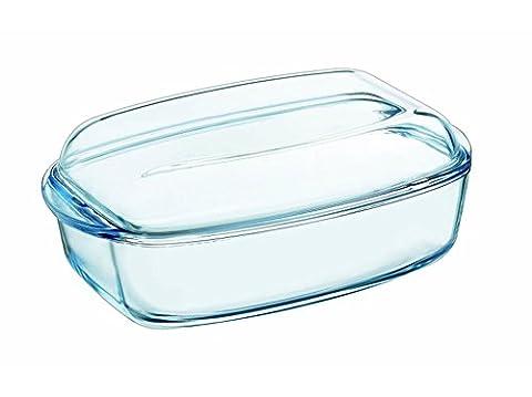 Pyrex Hitzebeständiges feuerfestes Gefäß Auflaufform Bräter mit Deckel aus Glas Varianten (7 L)