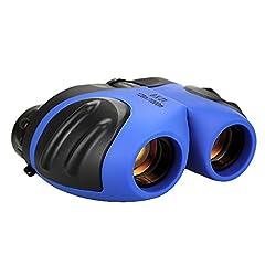 Idea Regalo - DMbaby Binocolo Bambini, 8x21 Compatto Cannocchiale Telescopio - Regali per Bambini Blu DL02