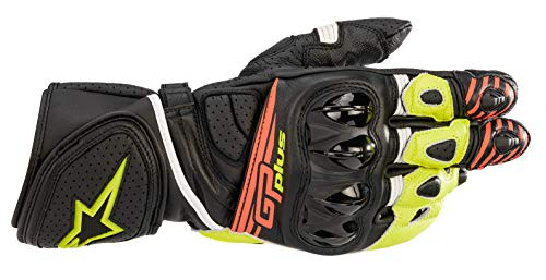 Alpinestars Guantes de moto Gp Plus R V2 Gloves Black Yellow Fluo Red Fluo, negro/amarillo/neón/rojo/fluorescente, XXL