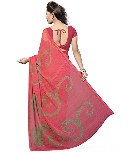 Sarees (Women's Clothing Saree For Women Latest Design Wear Sarees New Collection in PINK Coloured PREMIUM GEORGETTE Material Latest Saree With Designer Blouse Free Size Beautiful Bollywood Saree For Women Party Wear Offer Designer Sarees With Blouse Piece)  available at amazon for Rs.449