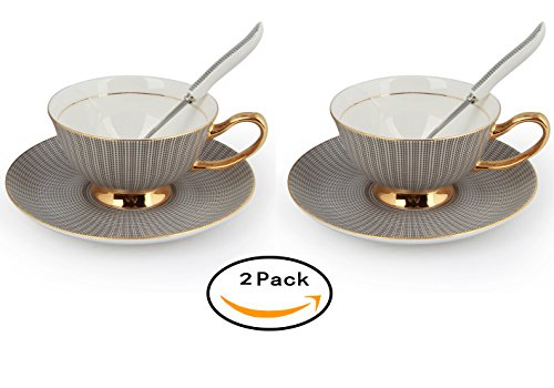 touch-life-set-of-2-bone-china-ceramic-elegant-coffee-cup-tea-cup-with-saucer-and-spoonelegant-black