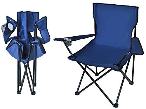 Iso Trade Anglerstuhl Faltstuhl Campingstuhl Klappstuhl Gartenstuhl Stuhl Sessel #5376, Farbe:Blau