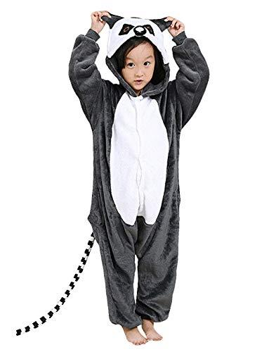 Jumpsuit Onesie Tier Karton Fasching Karneval Halloween Kostüm Kinder Mädchen Junge Kigurumi Sleepsuit Overall Pyjama Unisex Lounge Cosplay Schlafanzug, ()
