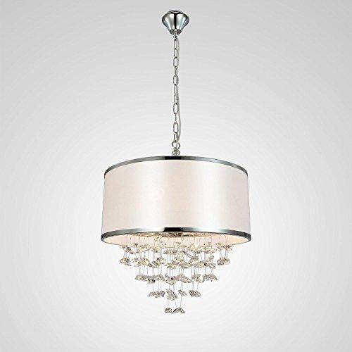 lampadario di cristallo di stoffa a 4 teste semplice ed
