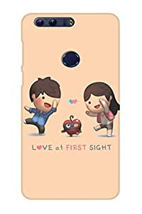 AMAN Love at First Sight 3D Back Cover for Honor 8