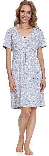 Cornette Damen Stillnachthemd CR6932016 Muster-117