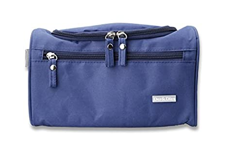 Portable Toiletry Travel Organizer Cosmetic Bags with Metal-Hook for travel,camping,sauna