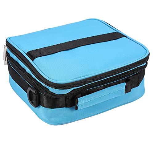 3 Farben 42 Flaschen ätherische Öle Fall Tragen Lagerung Reise Tragbare Tasche Halter Veranstalter (Blau) -