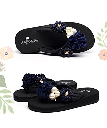 CHAOXIANG Pantofole Da Donna Antiscivolo Con tacco Ciabatte Piatte Sandali Da Surf Nuova Estate Ciabatte Spiaggia ( Colore : C , dimensioni : EU38/UK5/CN39 ) B