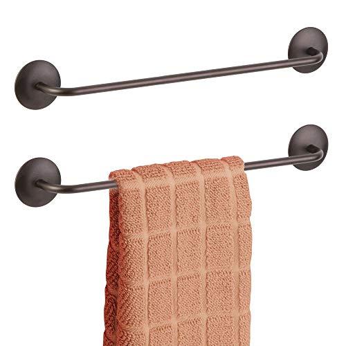 MDesign Juego 2 toalleros baño sin Taladro - Toallero