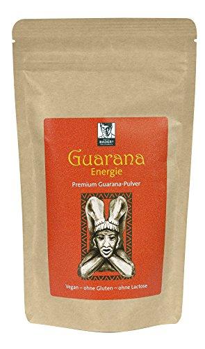 BADERs Guarana Energie Premium-Pulver 200g. Das Geheimnis der Inka für frische Energie. Immer dann, wenn's drauf ankommt. 100% naturrein, vegan. PZN 11642977