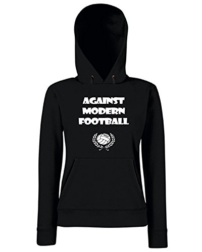 T-Shirtshock - Sweats a capuche Femme WC0175 Against Modern Football 2 Noir