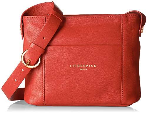 Liebeskind Berlin JLCROSSBS VINTAG - Bolso de hombro de Cuero Mujer, color Rojo, talla 6x23x22 cm (B...
