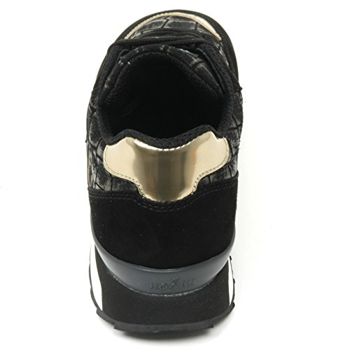 B9410 sneaker donna HOGAN REBEL R261 scarpa nero/oro shoe woman Nero/Oro