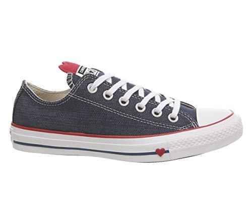 Converse Damen Chuck Taylor All Star Sneaker, Blau (Indigo/Enamel Red/White 000), 40 EU