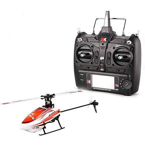 ELVVT Mini Brushless Fernbedienung Hubschrauber K100 6CH 3D 6G System Drohne Mit 3D Upside Down Flug Stunt RTF Wiederaufladbare Elektro Hubschrauber Kinder Und Erwachsene Geburtstag (450 3d Hubschrauber)