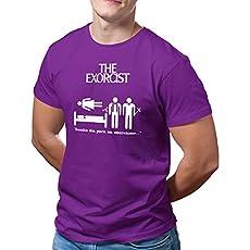 DibuNaif Camiseta Hombre – Unisex película El Exorcista, William Friedkin