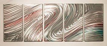 PictureSensations.com Modern abstrakter Metal Wall Art Decor Skulptur Elegant -