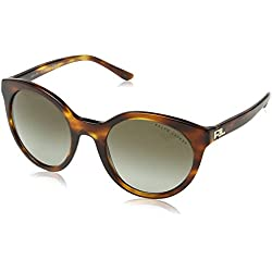 Ralph Lauren 0Rl8138, Gafas de Sol para Mujer, Striped Havana, 54