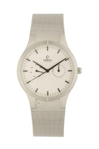 Obaku By Ingersoll Gents White Dial Stainless Steel Bracelet Watch