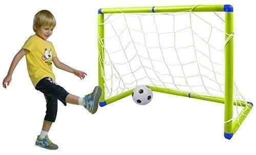 Quickdraw Kinder Junior Fußballtor Fußball Set mit Ball und Pumpe