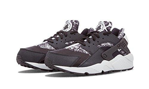 Nike Ladies Wmns Air Huarache Run Stampa Sneakers Black Board Pur 002