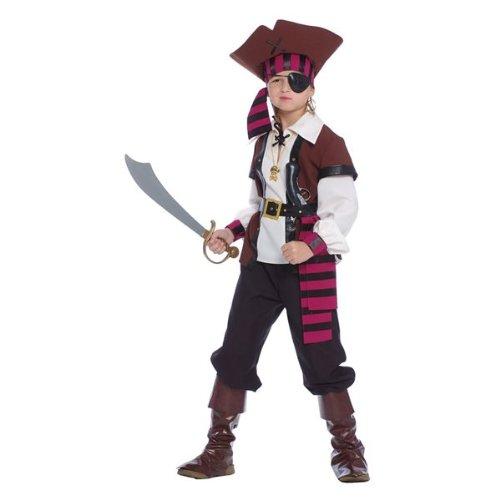 Guirca Jack Sparrow Kostüm Pirat der Sieben Mari, Mehrfarbig, Kinder 10/12 Jahre, 85373 (Kinder Jack Sparrow Kostüm)