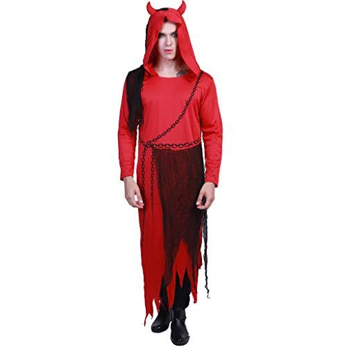 EraSpooky Teufel Herren Schäkel Rot Devil Kostüm