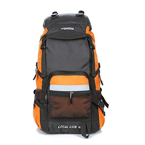 Cuckoo 45L Unisex impermeabile Zaino Camping Camping Escursioni Daypacks Sacca da montagna con copertura a pioggia arancia