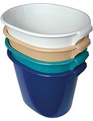 1x Behrend Fußadewanne Fußwanne Fußbad Waschwanne, oval 48x35x40cm, blau