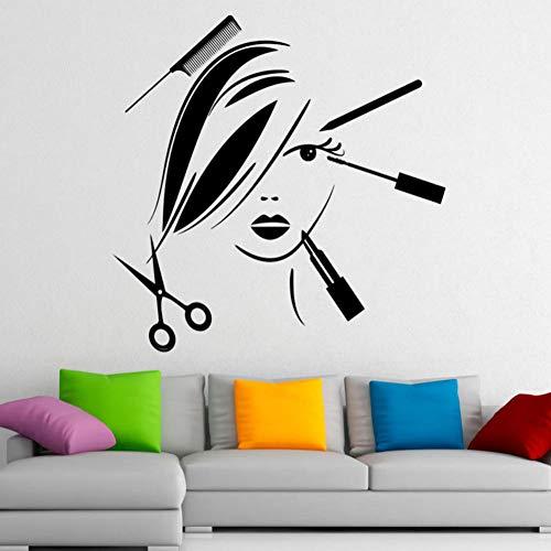 Dwqlx Schönheitssalon Wandaufkleber Bilden Mode Kosmetik Wandtattoo Abnehmbare Kunst Moderne Wandaufkleber Home Dekorative 59 * 59