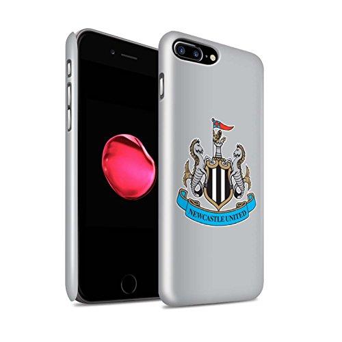 Officiel Newcastle United FC Coque / Clipser Brillant Etui pour Apple iPhone X/10 / Mono/Bleu Design / NUFC Crête Football Collection Couleur/Gris
