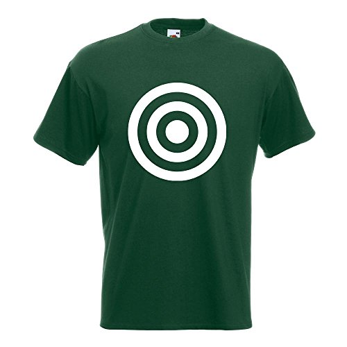 KIWISTAR - Bullseye Zielscheibe RAF T-Shirt in 15 verschiedenen Farben - Herren Funshirt bedruckt Design Sprüche Spruch Motive Oberteil Baumwolle Print Größe S M L XL XXL Flaschengruen