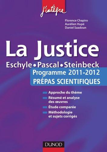 La justice - Programme 2011-2012 Prépas scientifiques.