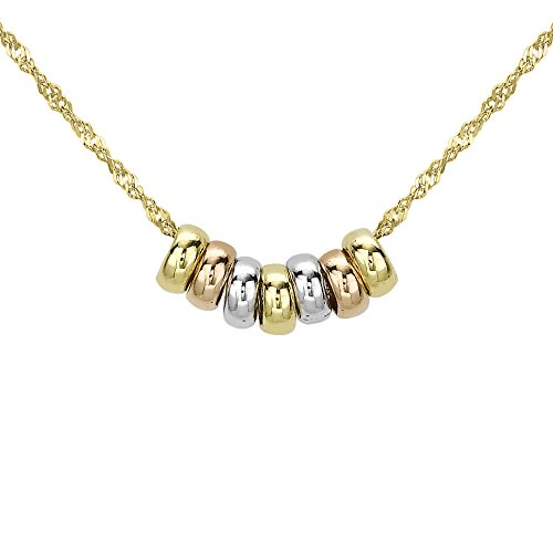 carissima-gold-9-ct-3-colour-gold-lucky-rings-chain-necklace-of-length-41-cm-16-inch