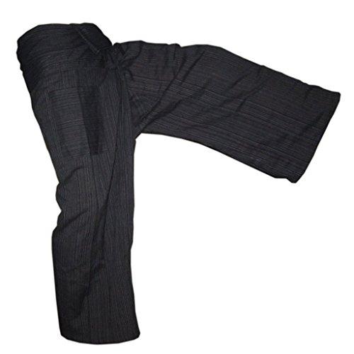 Panasiam® Fishermannhose: Lin, in schwarz, Unisize L Japanischen Boden