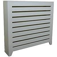 Greca Cubre radiador Lacado. Medidas: 64 * 19 * 87 cms. Acabado Lacado Blanco Mate.