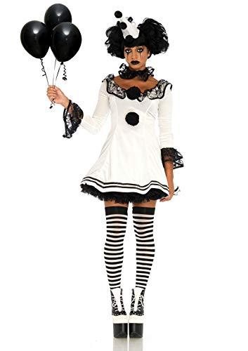 Clown Schwarz Kostüm - Leg Avenue 86658