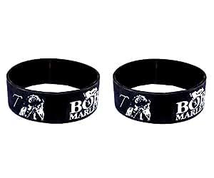 eshoppee bob Marley Wristband for Men Women Boys Girls Set of 2 pcs