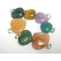 Hervorragende Set von sieben verschiedene Edelsteine Herz Anhänger crystal Healing Herren Frauen Geschenk Energie... preisvergleich bei billige-tabletten.eu