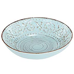 Rustic Fare Soup Cereal Bowl Aqua Blue, 2x8