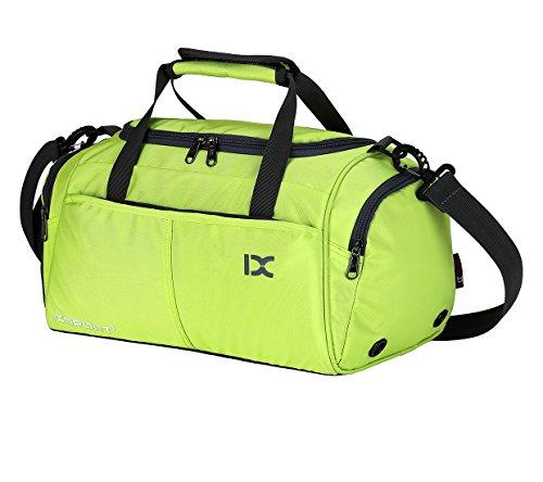Suzone Oxford fitness bag Leisure borsa messenger bag borsa da palestra borsone sportivo borsone da viaggio con scomparto per scarpe, donna, Black Green