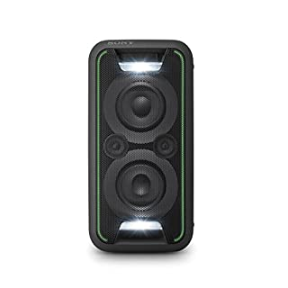Sony GTK-XB5 One Box Party Soundsystem (200 W Ausgangsleistung, Extra Bass, Bluetooth, NFC, Licht und DJ-Effekte) Schwarz