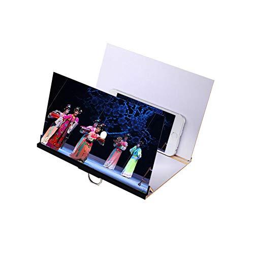CCHAO 8-Zoll-Handy-bildschirmverstärker Aus Holzmaserung 3D 2,5-facher Anti-Corona-strahlungsschutz Für Alle Smartphones,Black